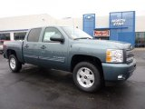 2011 Blue Granite Metallic Chevrolet Silverado 1500 LT Crew Cab 4x4 #42188063