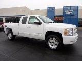 2011 Summit White Chevrolet Silverado 1500 LT Extended Cab 4x4 #42188076