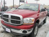 2006 Inferno Red Crystal Pearl Dodge Ram 1500 SLT Quad Cab 4x4 #42188534