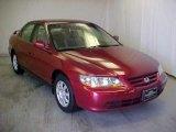 2002 Firepepper Red Pearl Honda Accord SE Sedan #42188329