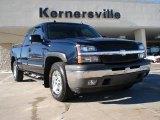 2005 Dark Blue Metallic Chevrolet Silverado 1500 LT Extended Cab 4x4 #42188343