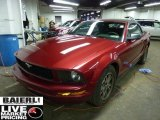 2005 Redfire Metallic Ford Mustang V6 Deluxe Convertible #42243551