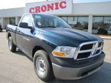 2011 Hunter Green Pearl Dodge Ram 1500 ST Regular Cab #42243802