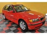 2003 Electric Red BMW 3 Series 325xi Wagon #42244030