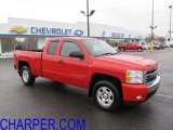 2008 Victory Red Chevrolet Silverado 1500 LT Extended Cab 4x4 #42244257