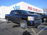 2009 Blue Granite Metallic Chevrolet Silverado 1500 LT Crew Cab #42295976