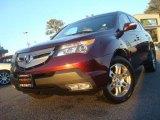2007 Dark Cherry Red Pearl Acura MDX Technology #42295772