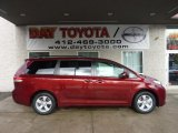 2011 Salsa Red Pearl Toyota Sienna LE #42295794