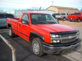 2004 Victory Red Chevrolet Silverado 1500 Regular Cab 4x4 #42296017