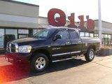 2007 Brilliant Black Crystal Pearl Dodge Ram 1500 Laramie Quad Cab 4x4 #42326827