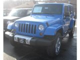 2011 Cosmos Blue Jeep Wrangler Unlimited Sahara 4x4 #42327202