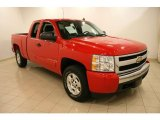 2008 Victory Red Chevrolet Silverado 1500 LT Extended Cab 4x4 #42327206