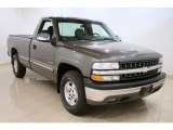 2002 Medium Charcoal Gray Metallic Chevrolet Silverado 1500 LS Regular Cab 4x4 #42327215