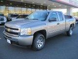 2009 Graystone Metallic Chevrolet Silverado 1500 LS Extended Cab #42327031