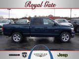 2008 Patriot Blue Pearl Dodge Ram 1500 Big Horn Edition Quad Cab #42326693