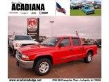 2004 Flame Red Dodge Dakota SLT Quad Cab #42326888