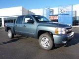 2011 Blue Granite Metallic Chevrolet Silverado 1500 LT Crew Cab 4x4 #42326903