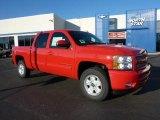 2011 Victory Red Chevrolet Silverado 1500 LT Crew Cab 4x4 #42326909