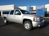 2011 Sheer Silver Metallic Chevrolet Silverado 1500 LT Crew Cab 4x4 #42326910