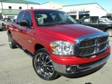2008 Inferno Red Crystal Pearl Dodge Ram 1500 Big Horn Edition Quad Cab #42326979