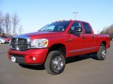 2007 Inferno Red Crystal Pearl Dodge Ram 3500 Laramie Quad Cab 4x4 #42379158