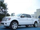 2011 White Platinum Metallic Tri-Coat Ford F150 Limited SuperCrew #42378716