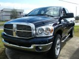 2007 Patriot Blue Pearl Dodge Ram 1500 Big Horn Edition Quad Cab 4x4 #42378729