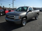 2008 Graystone Metallic Chevrolet Silverado 1500 Work Truck Regular Cab #42379234