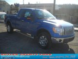 2011 Blue Flame Metallic Ford F150 XLT SuperCab 4x4 #42378769