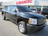 2009 Black Chevrolet Silverado 1500 Crew Cab #42378834