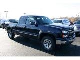2006 Dark Blue Metallic Chevrolet Silverado 1500 Z71 Extended Cab 4x4 #42378841