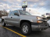 2003 Light Pewter Metallic Chevrolet Silverado 1500 Z71 Extended Cab 4x4 #42378901