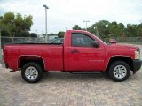2008 Victory Red Chevrolet Silverado 1500 Work Truck Regular Cab #42379446