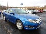 2011 Blue Flame Metallic Ford Fusion SE #42440027