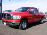 2007 Flame Red Dodge Ram 1500 SLT Quad Cab 4x4 #42440580