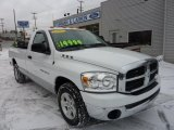 2007 Bright White Dodge Ram 1500 SLT Regular Cab #42440075