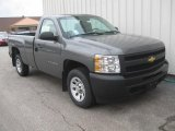 2011 Steel Green Metallic Chevrolet Silverado 1500 Regular Cab #42440596