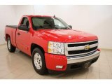 2008 Victory Red Chevrolet Silverado 1500 Work Truck Regular Cab #42440629