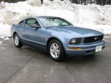2007 Windveil Blue Metallic Ford Mustang V6 Deluxe Coupe #4231386
