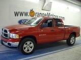 2004 Flame Red Dodge Ram 1500 SLT Quad Cab 4x4 #42440201