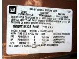2003 Chevrolet Astro LS Info Tag