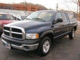 2003 Patriot Blue Pearl Dodge Ram 1500 ST Quad Cab #42440769