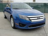 2011 Blue Flame Metallic Ford Fusion SE #42440248