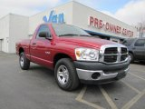 2008 Inferno Red Crystal Pearl Dodge Ram 1500 SXT Regular Cab #42440532