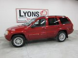 2002 Inferno Red Tinted Pearlcoat Jeep Grand Cherokee Limited 4x4 #42517242