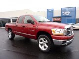 2006 Inferno Red Crystal Pearl Dodge Ram 1500 SLT Quad Cab 4x4 #42517645