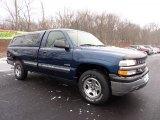 2000 Indigo Blue Metallic Chevrolet Silverado 1500 LS Regular Cab 4x4 #42517646