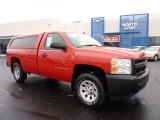 2008 Victory Red Chevrolet Silverado 1500 Work Truck Regular Cab 4x4 #42517651