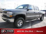 2002 Medium Charcoal Gray Metallic Chevrolet Silverado 1500 LS Crew Cab 4x4 #42518303