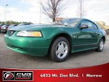 2000 Electric Green Metallic Ford Mustang V6 Coupe #42518314